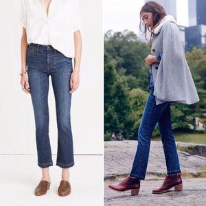 Madewell Cali Demi Boot High Rise Drop Hem Jeans